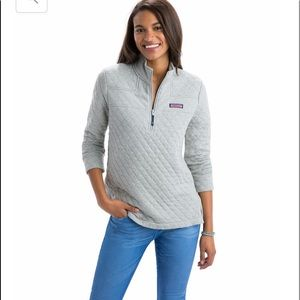 Relaxed Heathered Quilted Shep Shirt